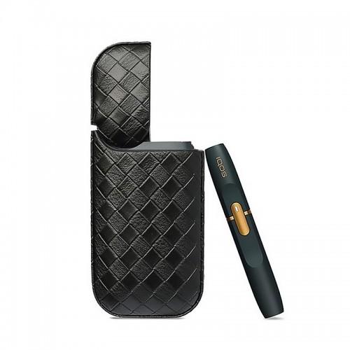 Θήκη από Συνθετικό Δέρμα Cube για iQos (Μαύρο)