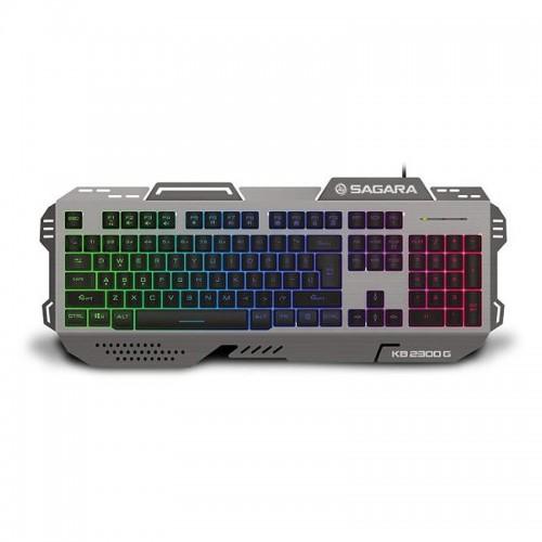 Πληκτρολόγιο Gaming Zeroground KB-2300G SAGARA (Γκρι)