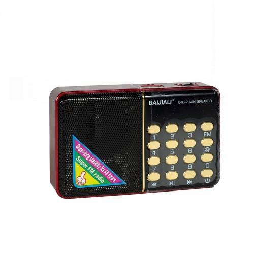 Ηχείο με Ραδιόφωνο Baijiali BJL-2 (Μαύρο - Κόκκινο)