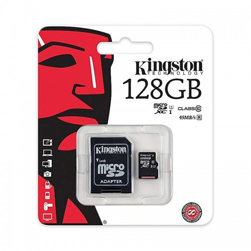 Kingston 128GB MicroSDXC Class 10 (Διαφανές)