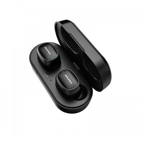 Ασύρματα Bluetooth Ακουστικά με Βάση Φόρτισης Awei T13 (Μαύρο)
