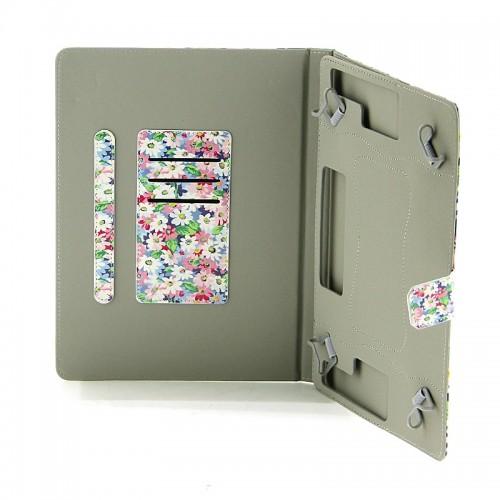 Θήκη Tablet Pink and White Daisies Flip Cover για Universal 9-10'' (Design)