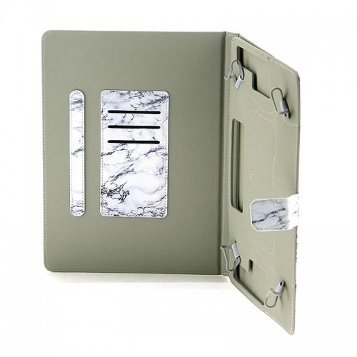 Θήκη Tablet Cracked White Marble Flip Cover για Universal 9-10'' (Design)