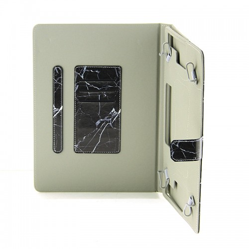 Θήκη Tablet Cracked Black Marble Flip Cover για Universal 9-10'' (Design)