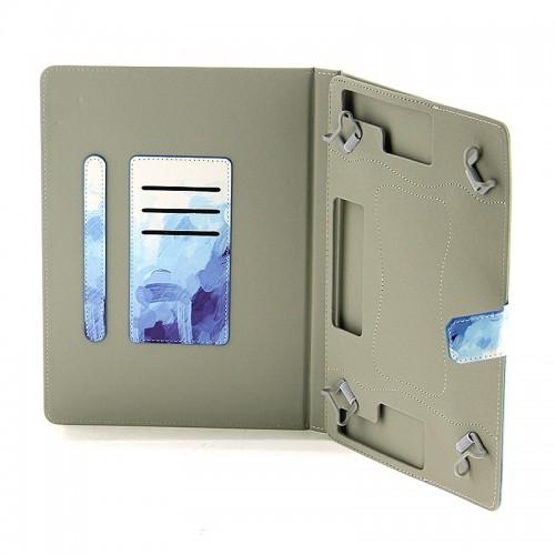 Θήκη Tablet Abstract Blue Brushstrokes Flip Cover για Universal 9-10'' (Design)