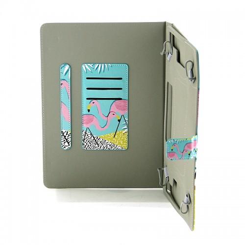 Θήκη Tablet Sassy Flamingos Flip Cover για Universal 9-10'' (Design)