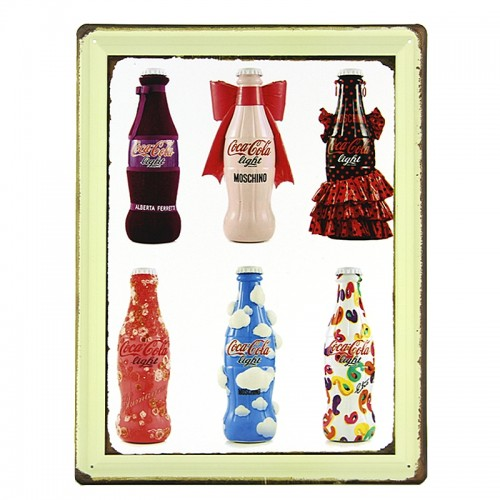 Μεταλλική Διακοσμητική Πινακίδα Τοίχου Collector Coca Cola 30X40