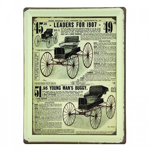 Μεταλλική Διακοσμητική Πινακίδα Τοίχου Leaders For 1907 30X40