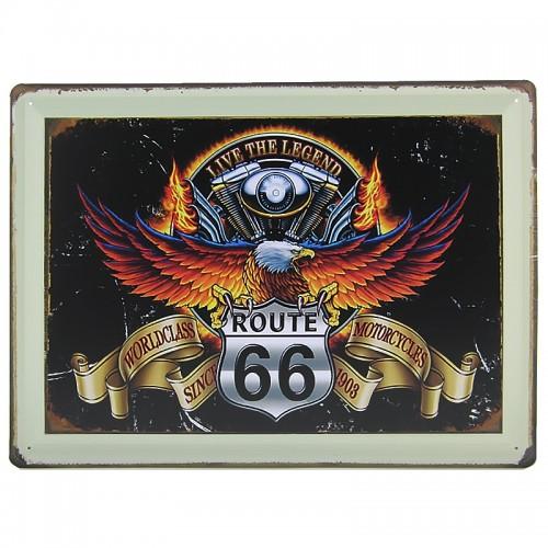 Μεταλλική Διακοσμητική Πινακίδα Τοίχου Eagle Legend 30X40