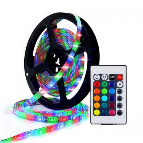 Ταινία LED 2835RGB 12V 14.4W/m με Χειριστήριο και Τροφοδοτικό (Design)