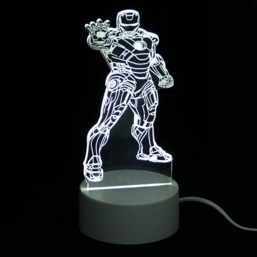 Επιτραπέζιο 3D Φωτιστικό LED σε Σχήμα Iron Man Outstretched Hand (Άσπρο)