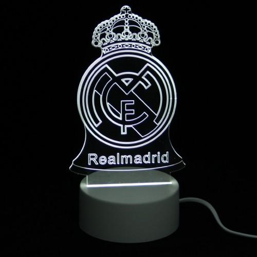 Επιτραπέζιο 3D Φωτιστικό LED σε Σχήμα Real Madrid (Άσπρο)