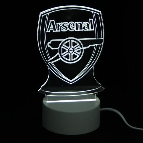 Επιτραπέζιο 3D Φωτιστικό LED σε Σχήμα Arsenal (Άσπρο)