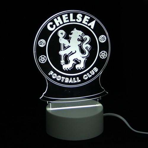 Επιτραπέζιο 3D Φωτιστικό LED σε Σχήμα Chelsea F.C. (Άσπρο)