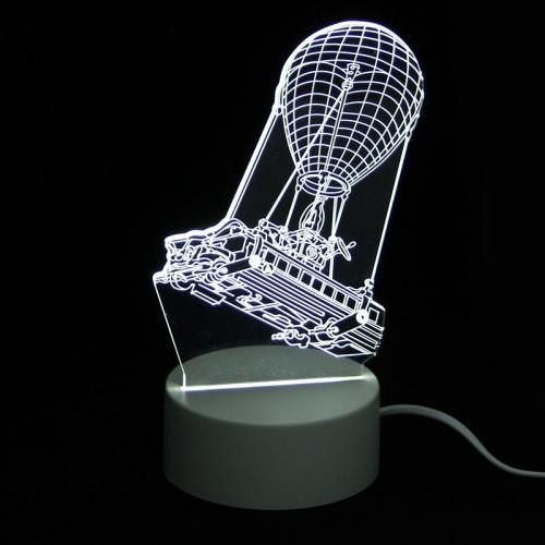 Επιτραπέζιο 3D Φωτιστικό LED σε Σχήμα Hot Air Balloon (Άσπρο)