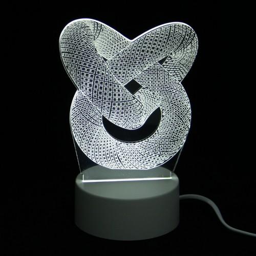 Επιτραπέζιο 3D Φωτιστικό LED σε Σχήμα Knot (Άσπρο)