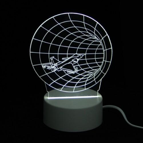 Επιτραπέζιο 3D Φωτιστικό LED σε Σχήμα Spaceship in Vortex (Άσπρο)