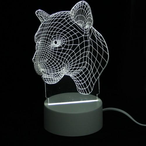 Επιτραπέζιο 3D Φωτιστικό LED σε Σχήμα Puma (Άσπρο)
