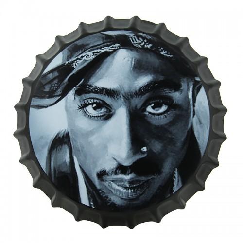 Μεταλλικό Διακοσμητικό Τοίχου Καπάκι Tupac Close-up (Design)
