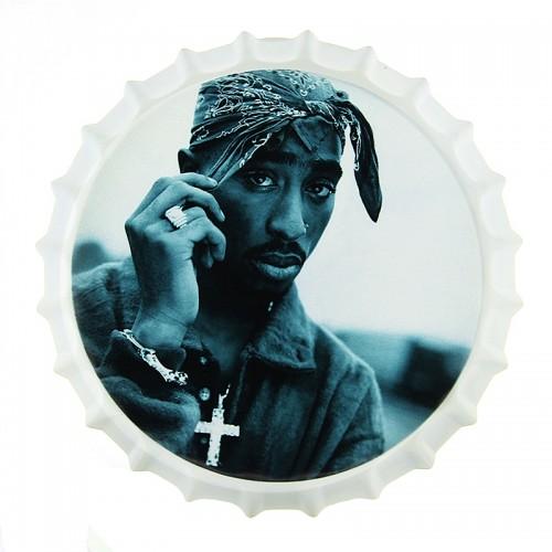 Μεταλλικό Διακοσμητικό Τοίχου Καπάκι Tupac Cross (Design)
