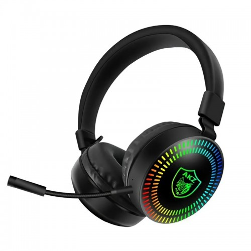 Gaming Ενσύρματα Headphones AKZ GM-019 με Μικρόφωνο, Noise Reduction και RGB LED Φωτισμό (Μαύρο)
