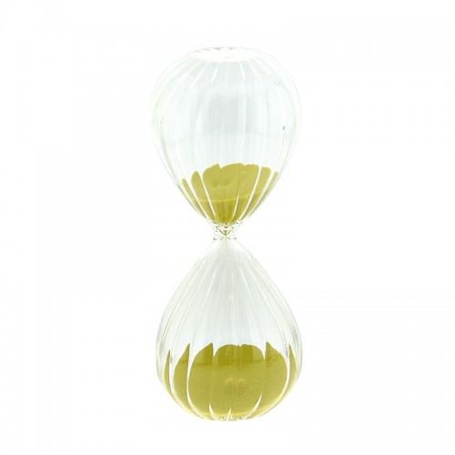 Γυάλινη Κλεψύδρα 30 Λεπτών (Κίτρινο)