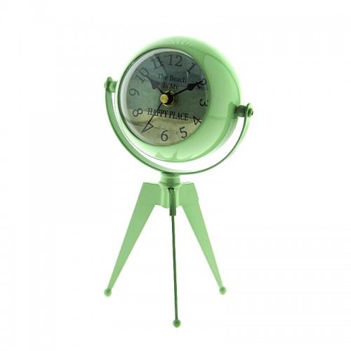 Μεταλλικό Επιτραπέζιο Διακοσμητικό Ρολόι με Καθρέφτη (Πράσινο)