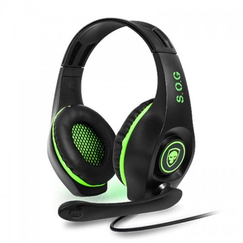 Gaming Ακουστικά Spirit Of Gamer με μικρόφωνο PRO-XH5 MIC-G71SXB1 (Μαύρο-Λαχανί)