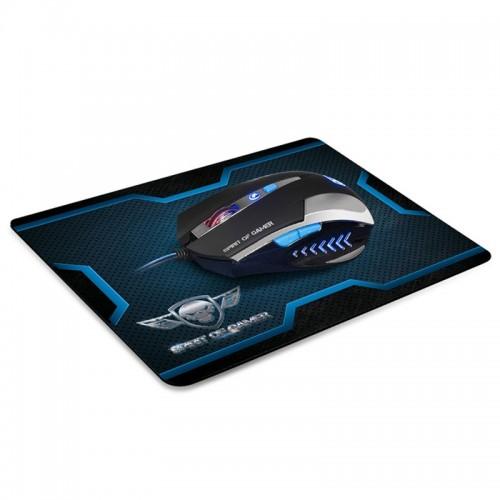 Gaming Ενσύρματο Ποντίκι Spirit Of Gamer με Mousepad PRO-M1 S-PG1S (Μαύρο-Μπλε)