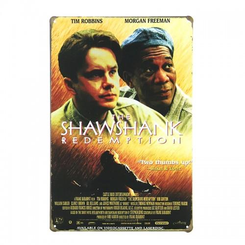 Μεταλλική Διακοσμητική Πινακίδα Τοίχου The Shawshank Redemption 20X30 (Design)