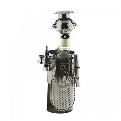 Μεταλλική Θήκη Κρασιού με Σχήμα Σερβιτόρος (C-96074) (Design)