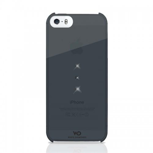 Θήκη White Diamonds Crystal Trinity Back Cover για iPhone 5 / 5S (Μαύρο-Διαφανές)