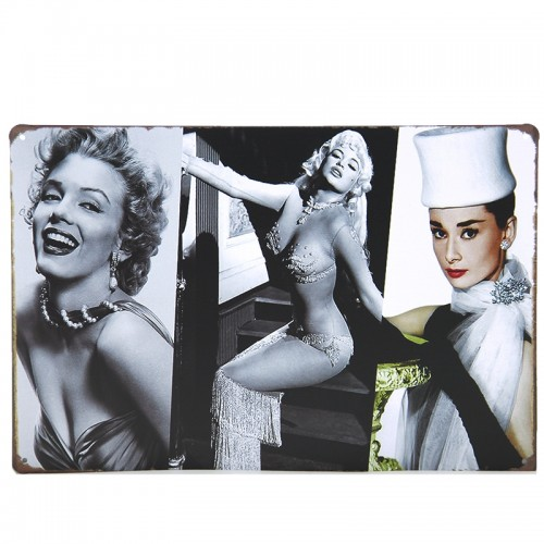 Μεταλλική Διακοσμητική Πινακίδα Τοίχου Famous Women 20X30 (Design)