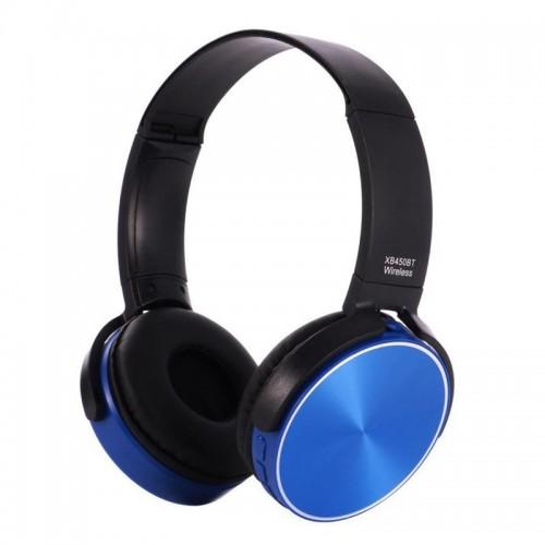 Ασύρματα Ακουστικά Bluetooth 450BT με Ενσωματωμένο Μικρόφωνο (Μαύρο-Μπλε)