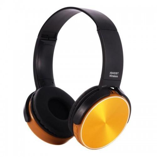 Ασύρματα Ακουστικά Bluetooth 450BT με Ενσωματωμένο Μικρόφωνο (Μαύρο-Πορτοκαλί)