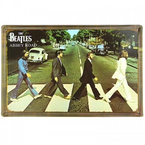 Μεταλλική Διακοσμητική Πινακίδα Τοίχου The Beatles Abbey Road 40X60 (Design)