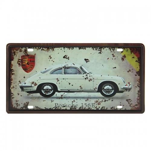 Μεταλλική Διακοσμητική Πινακίδα Τοίχου Porsche 356B 15X30