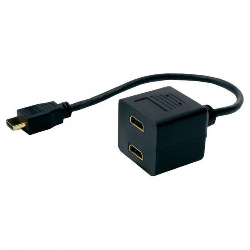 Powertech HDMI Splitter 19 Pin Male to 2x HDMI Female CAB-H053 (Μαύρο)