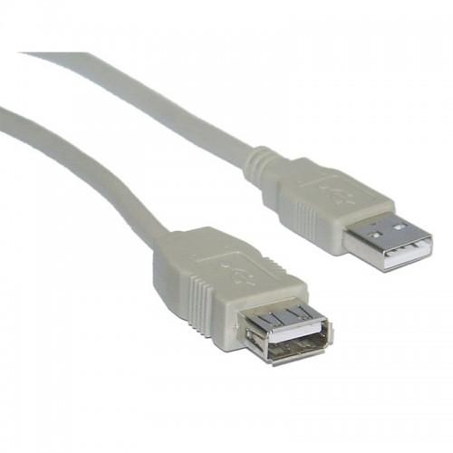 Καλώδιο Powertech CAB-U080 USB 2.0 σε USB female 5m (Γκρί)
