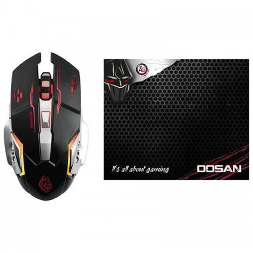 Ποντίκι Gaming με Mousepad Zeroground MS-2850GMS Dosan (Μαύρο)