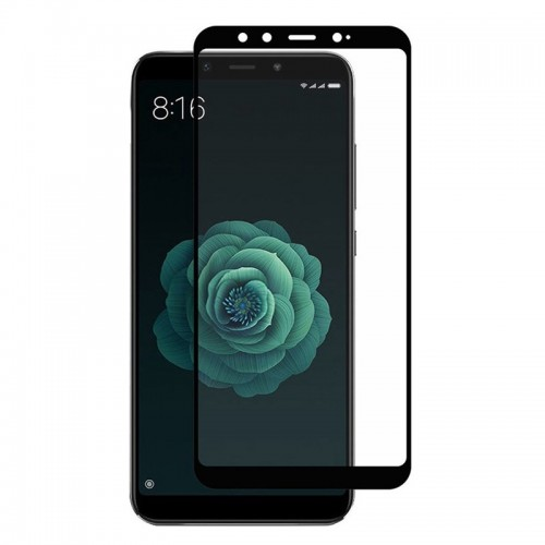 Tempered Glass Powertech 5D TGC-0303 για Xiaomi Mi A2 (Black)