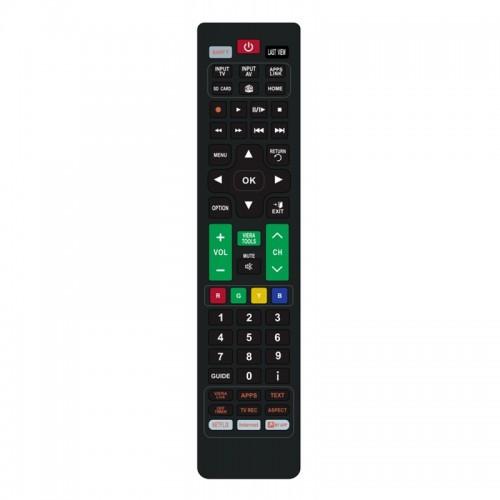 Τηλεχειριστήριο Powertech PT-831 για Τηλεοράσεις Panasonic (Μαύρο)