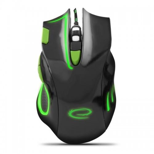 Gaming Ενσύρματο Ποντίκι MX401 Hawk EGM401KG (Μαύρο - Πράσινο)