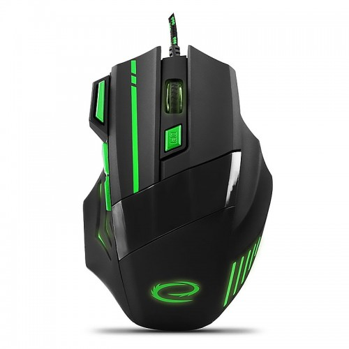 Gaming Ενσύρματο Ποντίκι MX201 Wolf EGM201G (Πράσινο - Μαύρο)