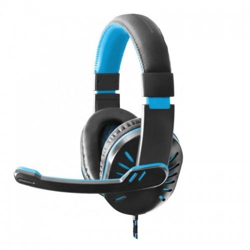 Ακουστικά Gamimg Headset με Μικρόφωνο Esperanza Crow EGH330B (Μαύρο-Γαλάζιο)