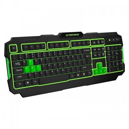 Gaming Πληκτρολόγιο Illuminated Shadow EGK202G (Πράσινο - Μαύρο)