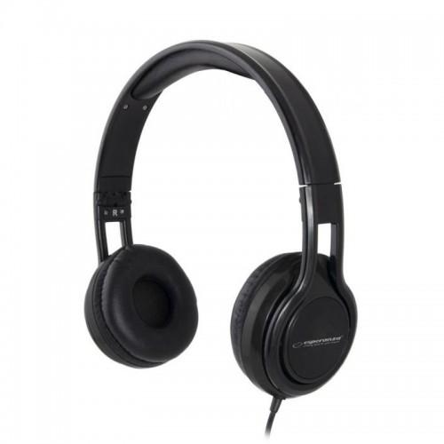 Ακουστικά Headset με Μικρόφωνο Esperanza EH211K (Μαύρο)