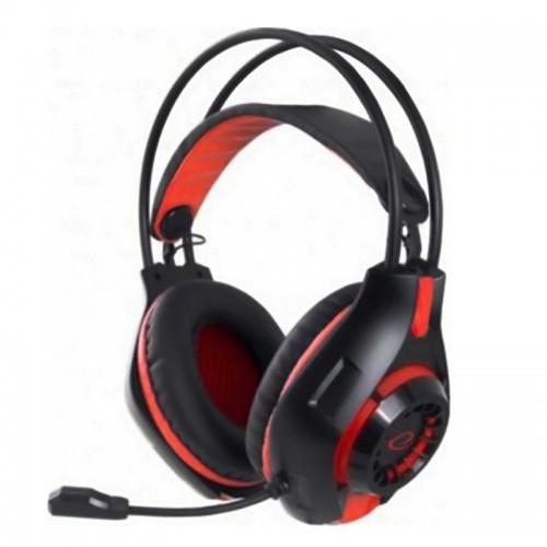 Ακουστικά Gamimg Headset με Μικρόφωνο Esperanza Deathstrike EGH4201R (Μαύρο - Κόκκινο)