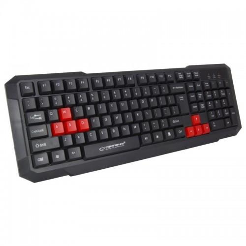 Πληκτρολόγιο Gaming Esperanza Aspis EGK102R (Μαύρο - Κόκκινο)