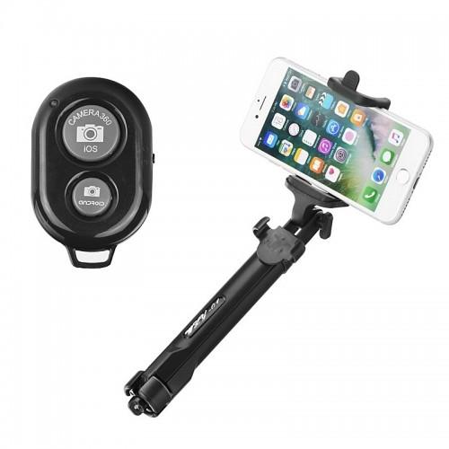 Τρίποδας και Selfie Stick Bluetooth Blun 60cm (Μπλε)